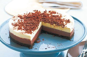 Carole's Black & White Triple Chocolate Cheesecake - 4 Slices