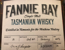 Load image into Gallery viewer, fanny bay tasmanian whisky