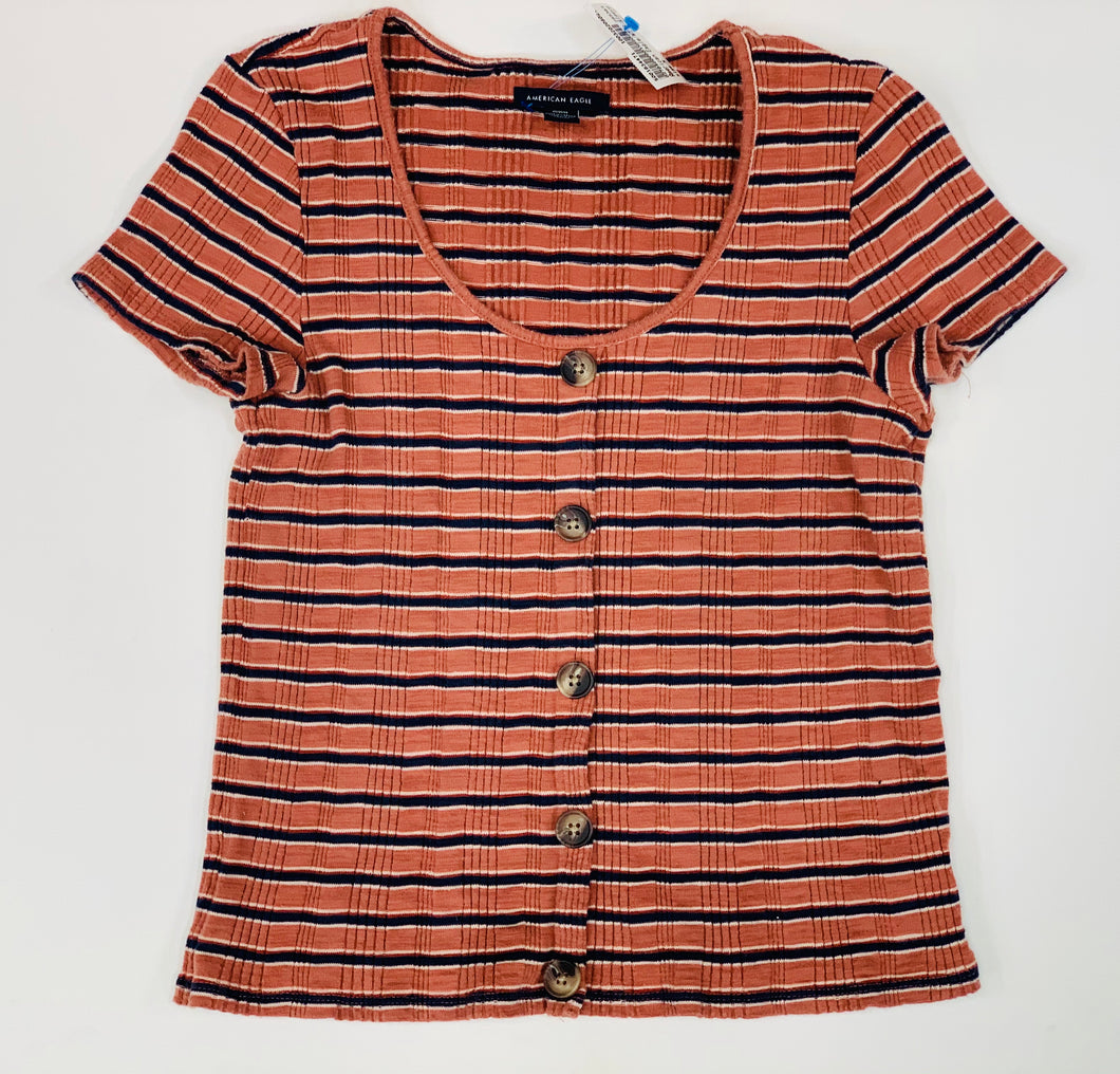 American Eagle Womens Short Sleeve Top Medium-449D1E5E-68C5-473A-9B60-359FBC136D1E.jpeg