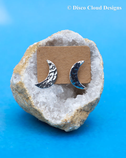 Crescent Moon Studs/Ready to ship!