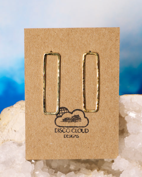 Minimal rectangle earrings