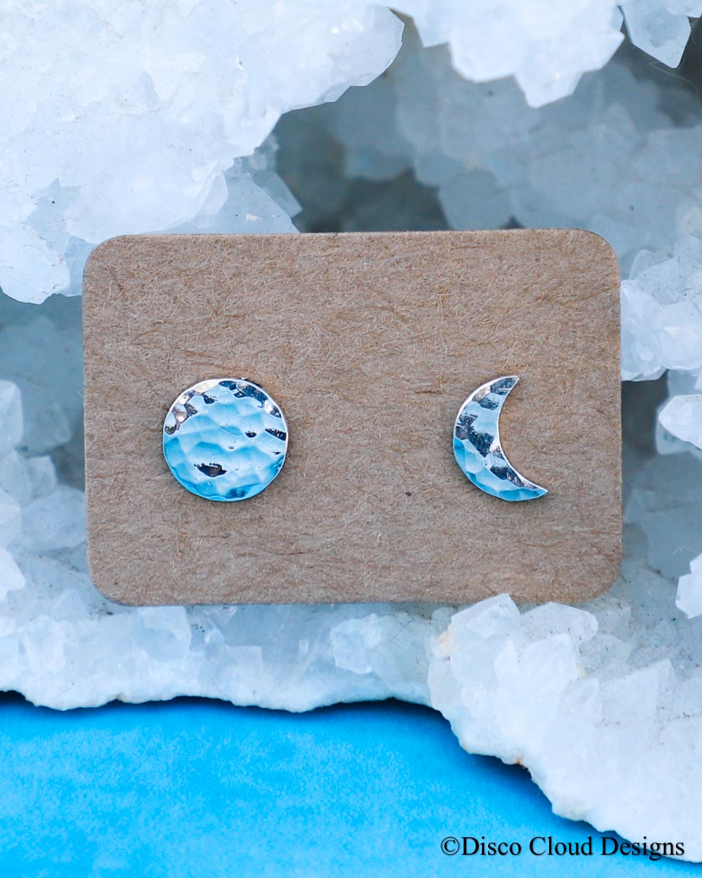 Tiny sun & moon studs/ Ready to ship!