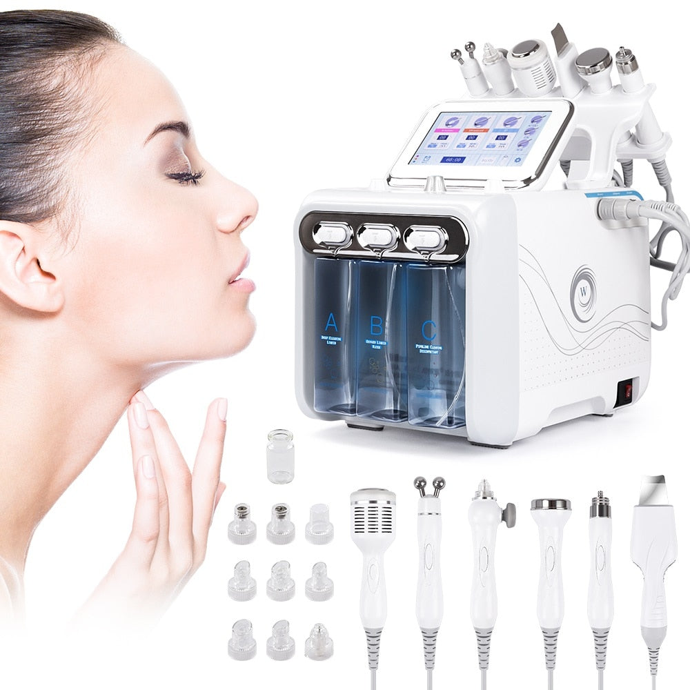 6 in 1  Professional SPA Beauty Facial Hydro Cleansing Machine