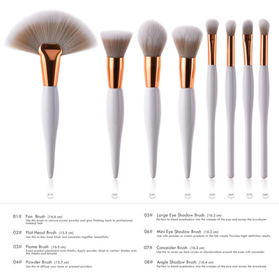 Kwasten Makeup Brush Foundation 8 Pcs Set