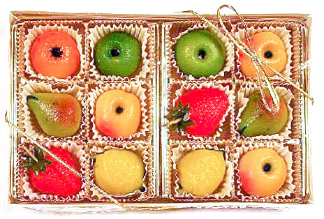 12 Pc Marzipan Fruit Box