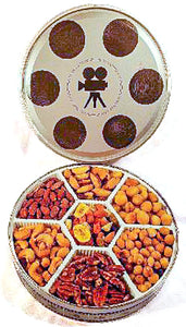 2 Lb Roasted/No Salt Assorted Nuts in a Film Tin