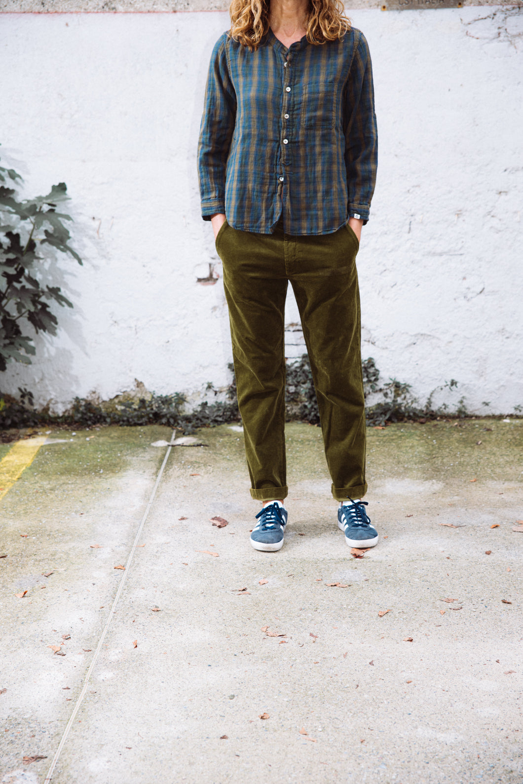 Imperial pant corduroy military