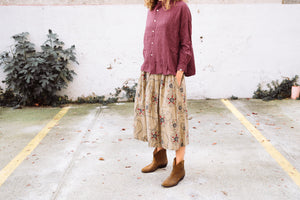 Gemma skirt Yukon print military