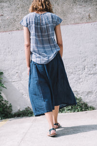 Manti skirt Munni design navy