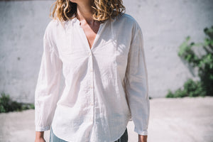 Orchard shirt light khadi white sand