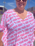 Love Your Body Pink Caftan