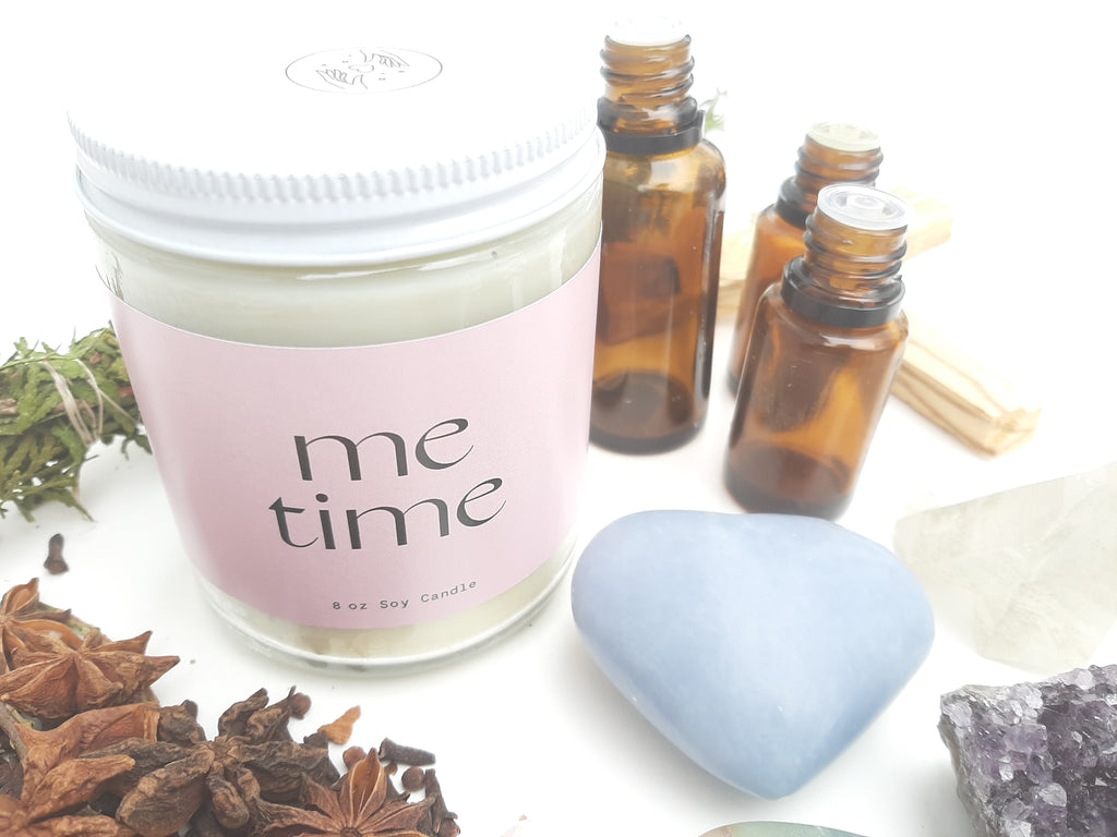 Scents and Intentions; Me Time Custom Candle