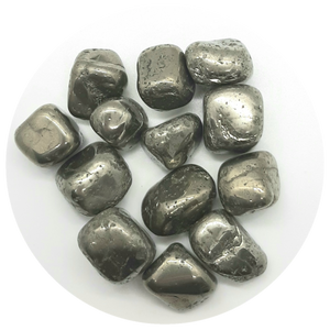 Open image in slideshow, Pyrite Tumbled