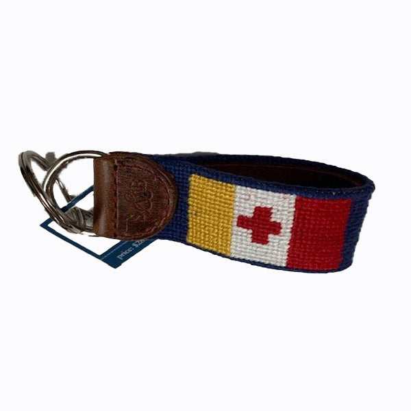 KA Needlepoint Key Chain