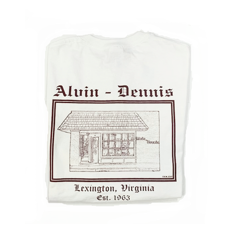 Alvin-Dennis White Short Sleeve T Shirt