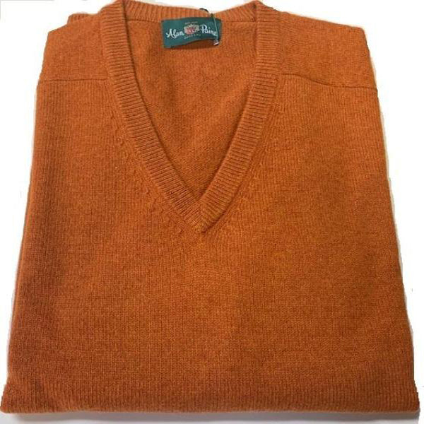 Alan Paine Hampshire V Neck Sweater Oxide