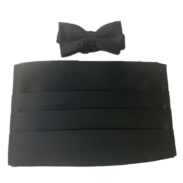 Black Cummerbund Set