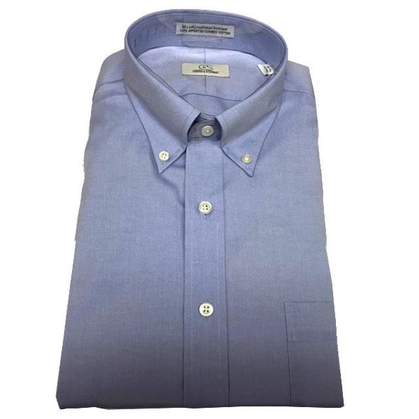Blue Dress Shirt Button Down Collar