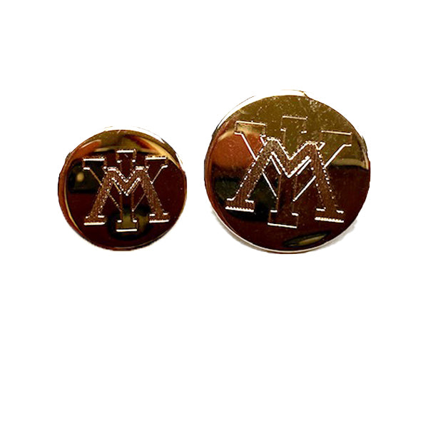 VMI Polished Gold Plated Blazer Buttons