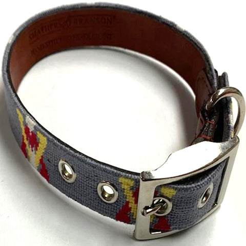 VMI Needlepoint Dog Collar