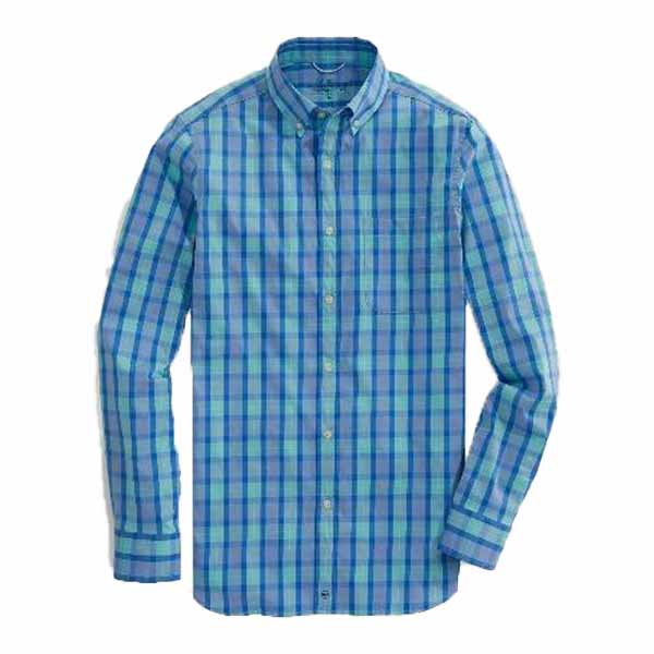 Vineyard Vines Gingham Performance Tucker Shirt