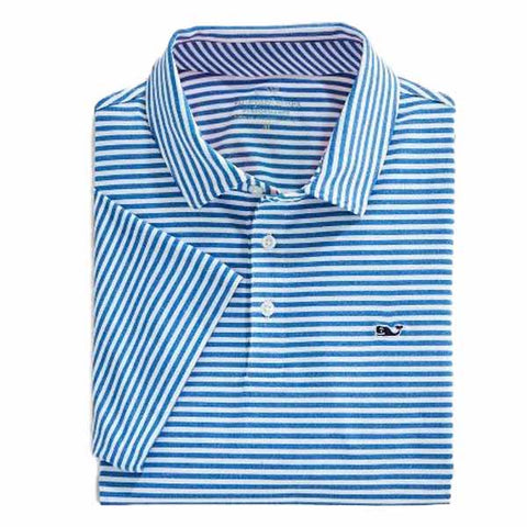 Vineyard Vines Heathered Performance Winstead Stripe Polo