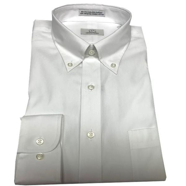 White Dress Shirt Button Down Collar