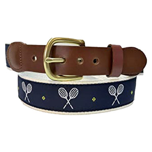 Leather Man Tennis Belt