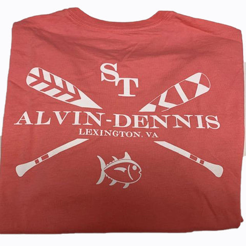Southern Tide and Alvin-Dennis Short Sleeve T Shirt Coral