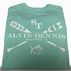 Southern Tide and Alvin-Dennis Short Sleeve T Shirt Offshore Green