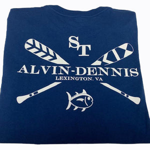 Southern Tide and Alvin-Dennis Short Sleeve T Shirt Yacht Blue