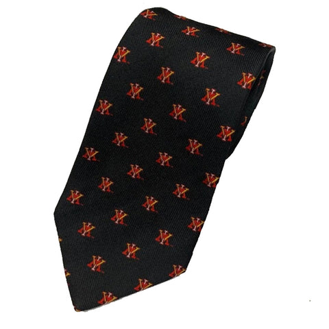 VMI Spider Black Silk Tie