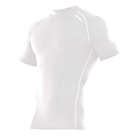 2XU Men's Short Sleeve Compression Top White