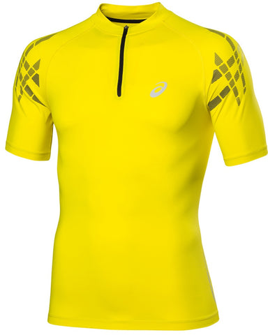Asics Men's Motion Muscle Zip Top Tee