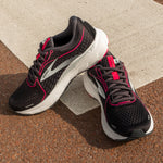 BROOKS ADRENALINE GTS 21 WIDE FIT (D) WOMEN'S BLACK - RASPBERRY -SORBET -EBONY