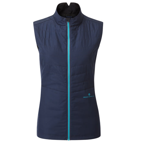 RONHILL TECH WINTER GILET WOMEN'S DEEP NAVY SPA GREEN