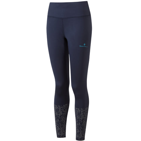 RONHILL WOMEN'S LIFE NIGHT RUNNER TIGHT DEEP NAVY REFLECT