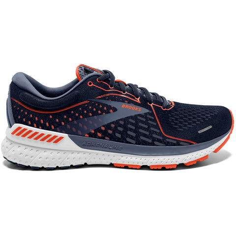 Brooks Adrenaline GTS 21 Men's 2E Wide Fit Navy Red Grey