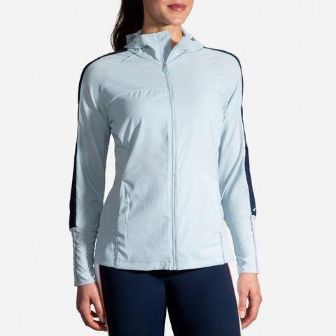 BROOKS WOMEN'S CANOPY JACKET  GLACIER-NAVY