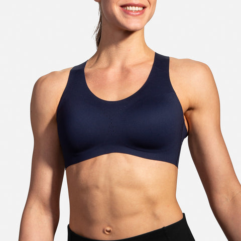 Brooks Dare Crossback Run Bra Navy