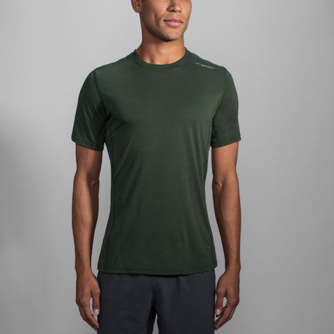 MEN'S BROOKS DISTANCE SHORT SLEEVE OLIVE
