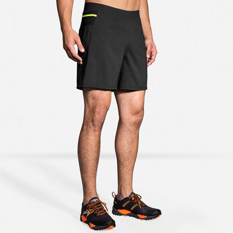 "BROOKS MEN'S CASCADIA 7"" 2 IN 1 SHORT BLACK"
