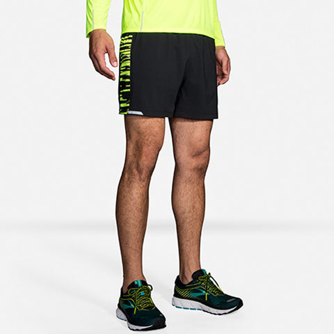 "BROOKS MEN'S NIGHTLIFE 5"" SHORT BLACK BLUR"