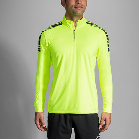 BROOKS MEN'S NIGHTLIFE HALF ZIP  BLUR