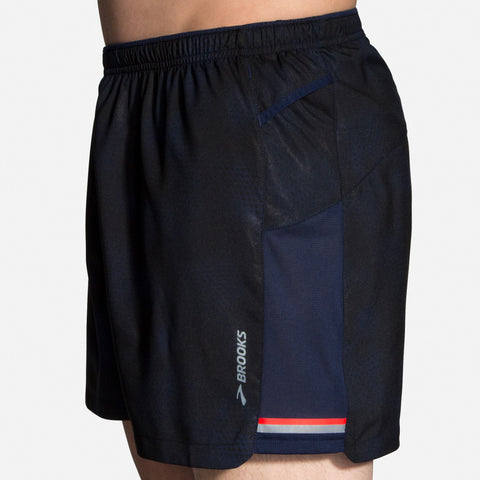 "SS20 MEN'S BROOKS SHERPA 5"" SHORT NAVY HAZE"