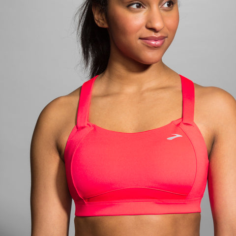 BROOKS WOMENS JUNO BRA RACE PINK