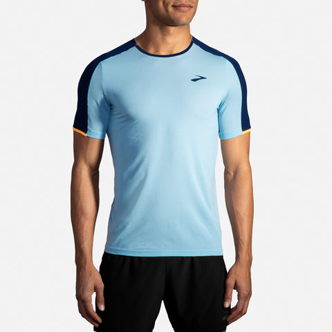 Brooks Atmosphere Short Sleeve Men's Pool/Navy/Fluoro Orange