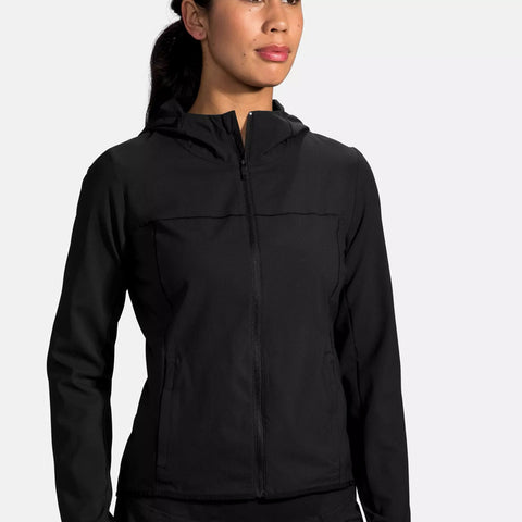 BROOKS CANOPY JACKET BLACK WOMEN'S