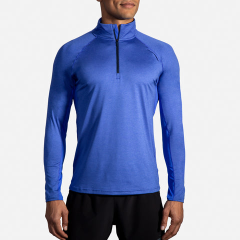 Brooks Dash Half Zip Men's Heather/Amparo Blue