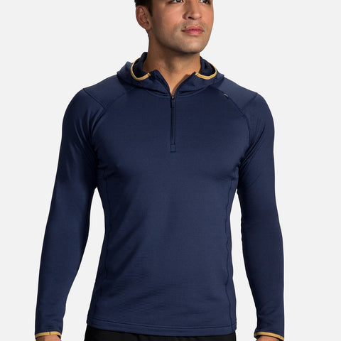 BROOKS NOTCH THERMAL HOODIE NAVY DESERT MEN'S